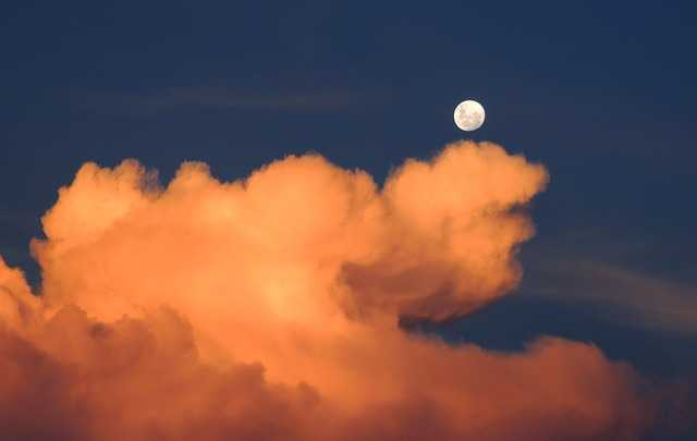 does the moon lie inside the atmosphere of the earth