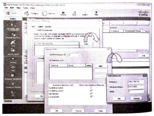 Configuring OSPF with SDM
