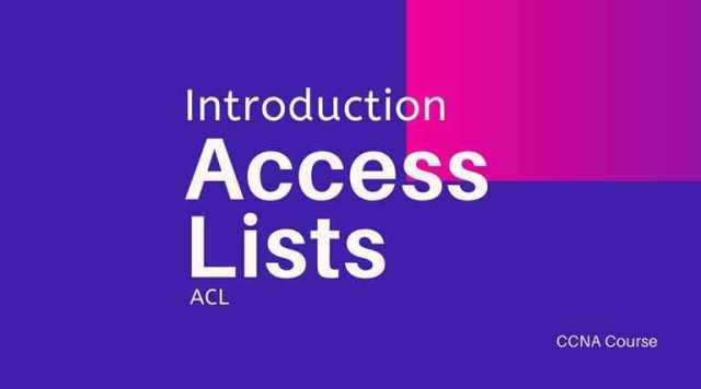 Introduction to Access Lists