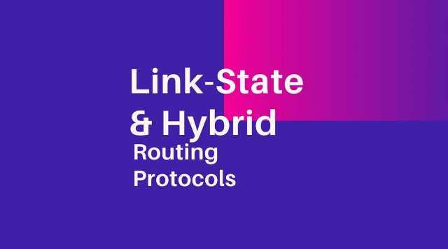 Link state and hybrid routing protocol