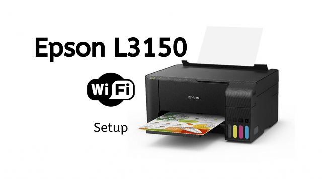 How to setup Epson L3150 wifi settings