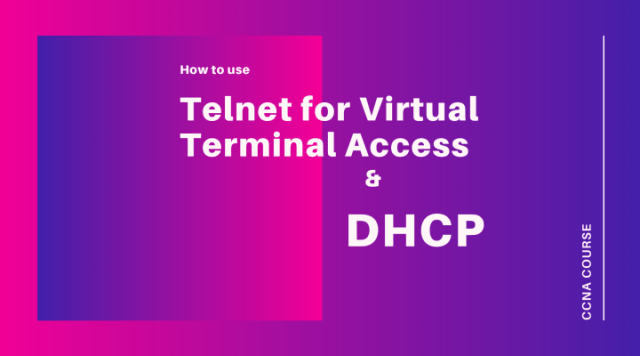Telnet Virtual Terminal Acess and DHCP