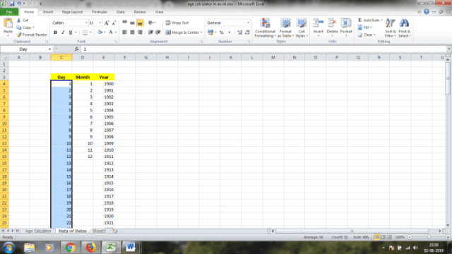 Create an Amazing Age Calculator App on Your own in Microsoft Excel