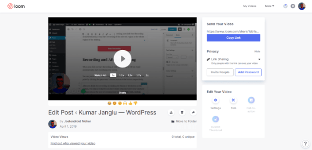 How to Record your Browser Screen with Loom