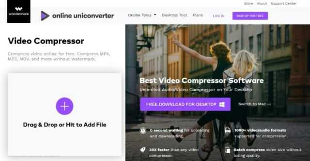 Compress Video Online with UniConverter