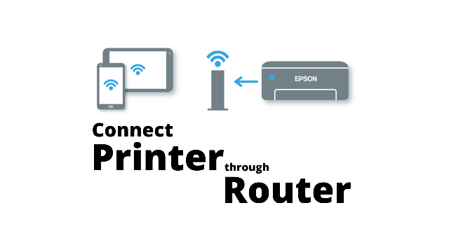 connect printer through a router