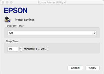 How to change the Power Off and Sleep Timer Settings in Epson L3150 Printer