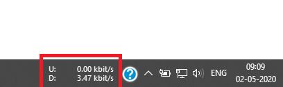 How to Display Internet Speed on Taskbar in Windows 10