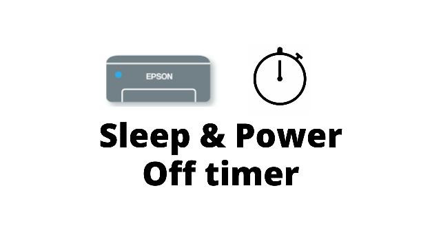 sleep timer for epson l3150