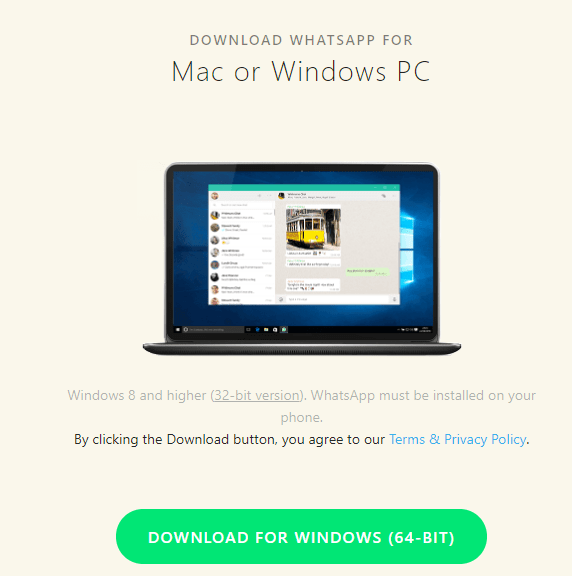 How to Get WhatsApp For Windows 7 (32-bit & 64-bit)