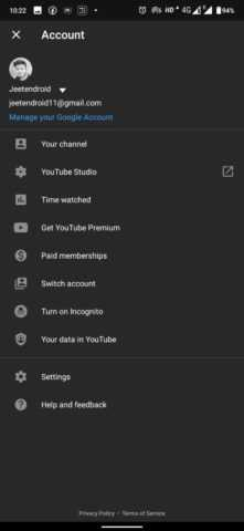Here is how you can use YouTube Incognito Mode
