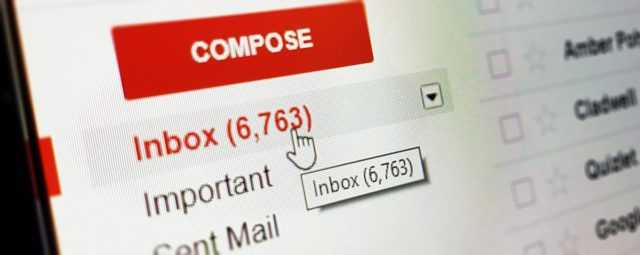 gmail inbox layout