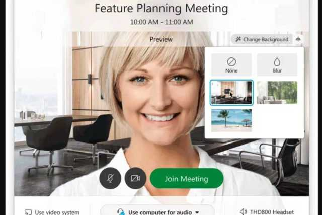 Cisco's Webex video conference service will now allow you to set Virtual backgrounds