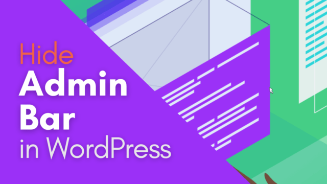 How to Hide Admin Bar in WordPress (For all Users) #WordPress