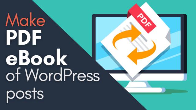 How to Save WordPress Posts as PDF or EPUB (Step by Step) #WordPress