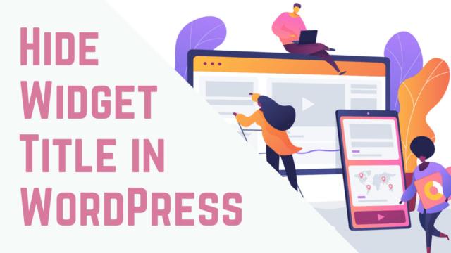how to easily add widget to wordpress