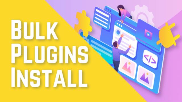 How to Bulk Install Necessary Plugins in WordPress (Step by Step) #WordPress