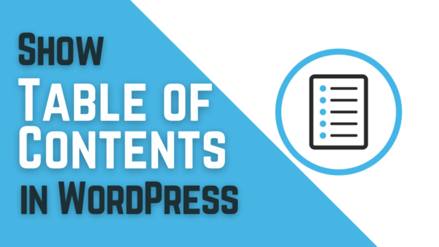 How to Create a Table of Contents in WordPress Posts and Pages #WordPress
