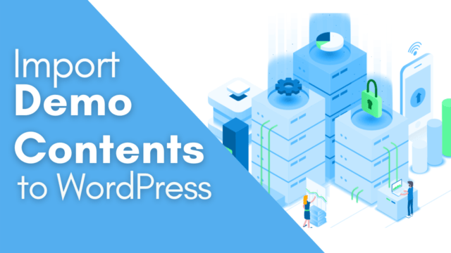 How to Import Demo Content of Theme in one Click in WordPress #WordPress