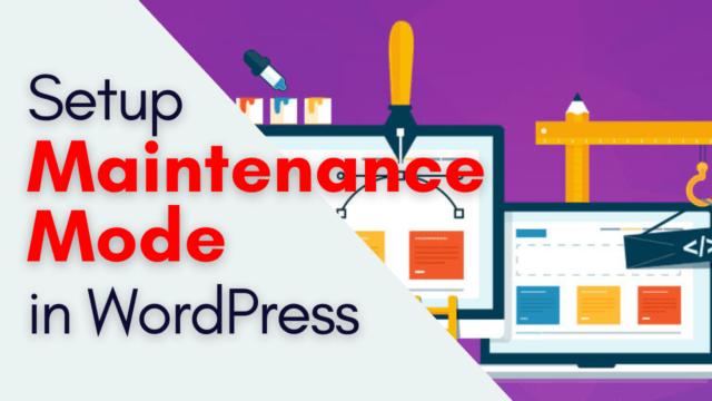 How to Setup Maintenance Mode in WordPress Easy Way #WordPress