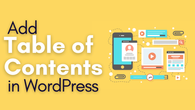 How to Add Table of Contents to Posts, Pages in WordPress Site #WordPress